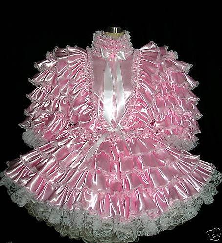 #D02 ADULT SISSY SATIN PRISSY DRESS