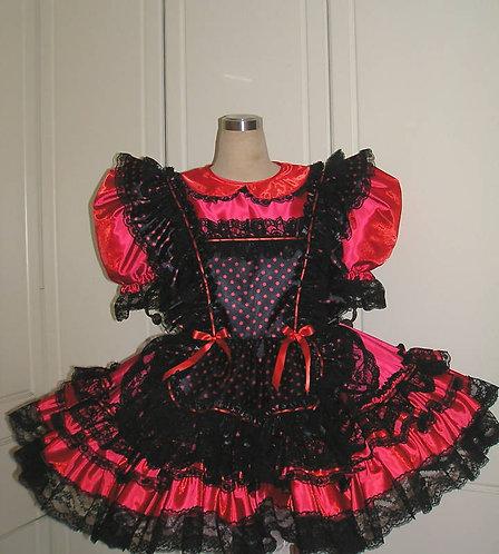 #B15 ADULT SISSY TAFFETA MAIDS DRESS