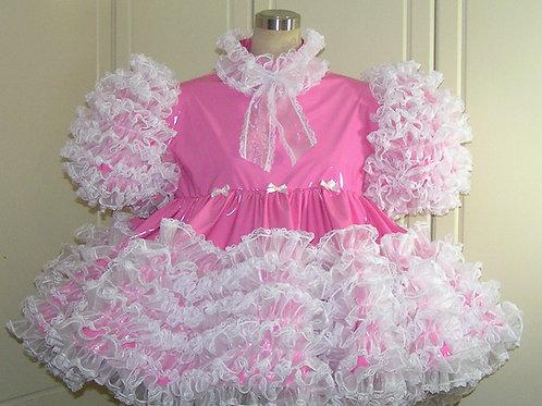 #D06 ADULT SISSY PVC PRISSY DRESS SET
