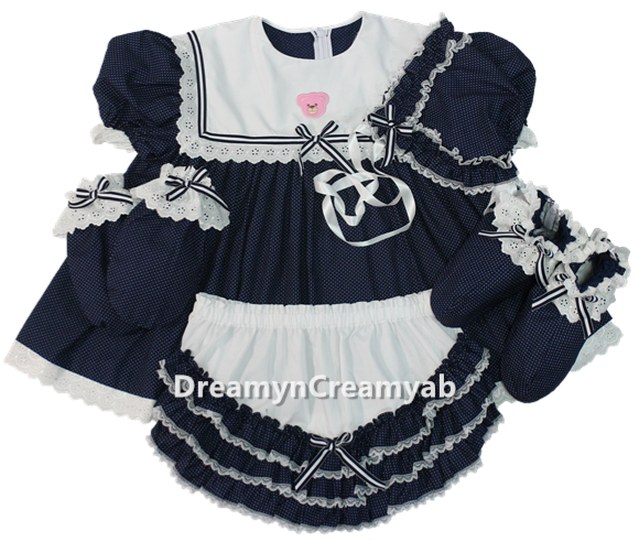 Bear Sailor Dress Set