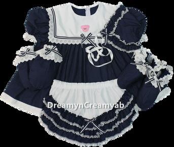 Bear Sailor Dress Set