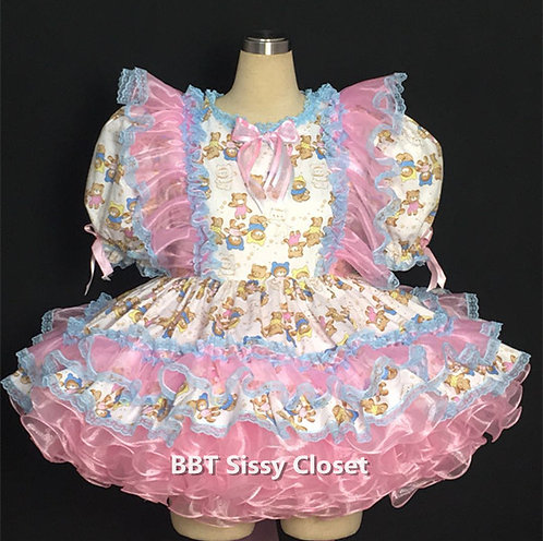 BBT Adult Sissy Baby Bear Party Dress 05
