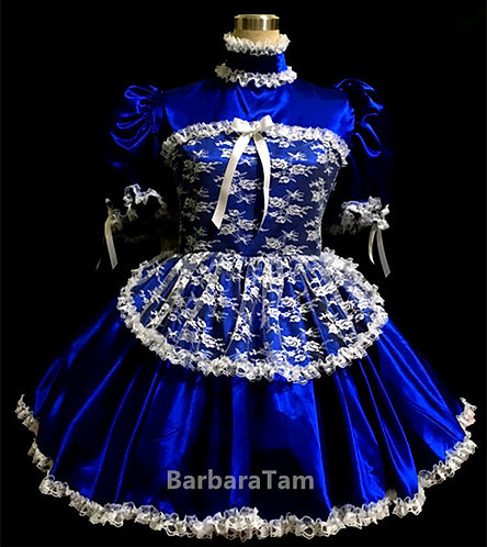 #A13 Adult Sissy Sexy French Lacy Miads Dress