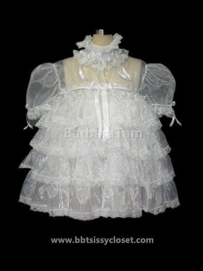 #D21 BBT Adult Sissy Frilly Organza Dress