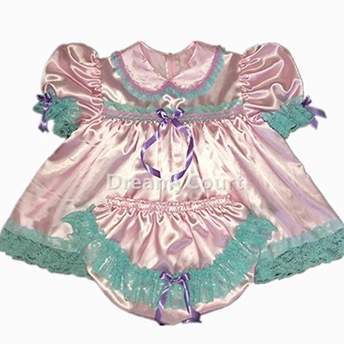 Adult Baby Satin Dress Set