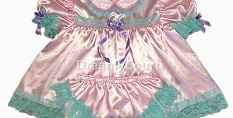 Adult Baby Satin Dress Set