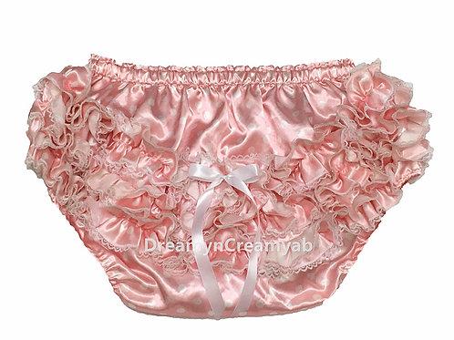 ADULT BABY Shimmering Polkadots Satin Panties