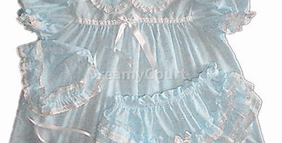 Adult Sissy Baby EyeletLight Blue Dress Set