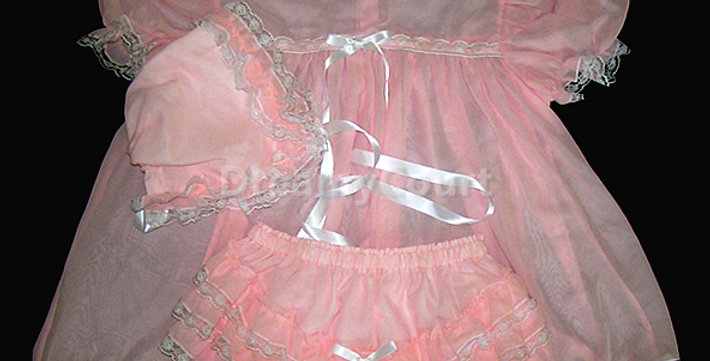 Adult Sissy Baby Chiffon Dress Set
