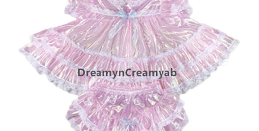 Adult Baby Frilly Ruffles Pink Dress