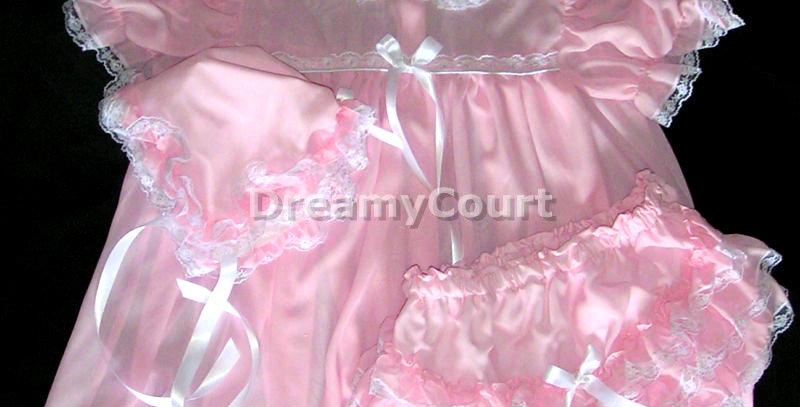 Adult Sissy Baby Chiffon Dress Set