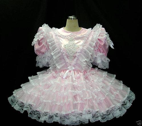 #C19b ADULT SISSY POLKADOTS RUFFLE DRESS