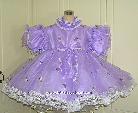 A03 BBT Adult Sissy Lavenda Fairy Dress