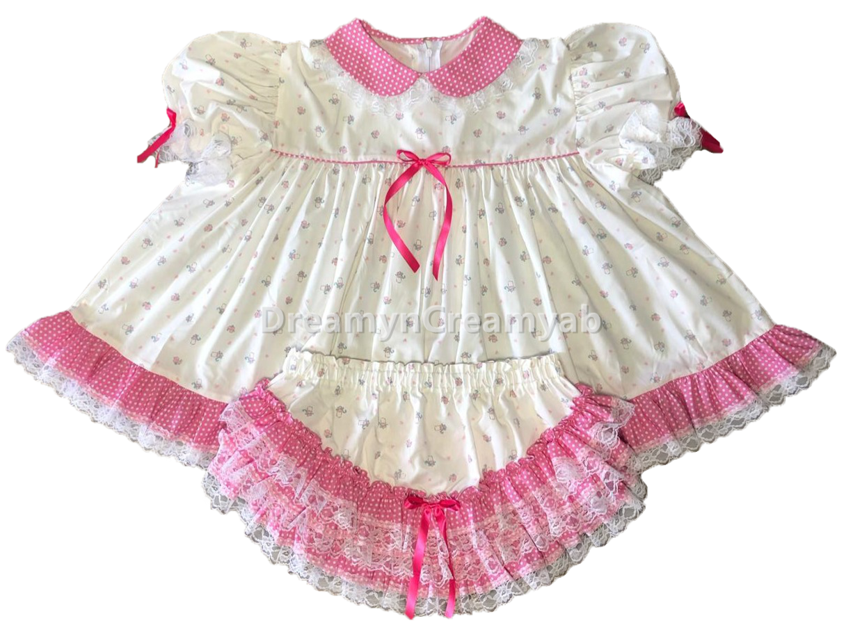 white bottle baby dress