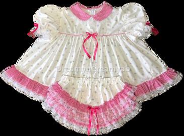 white bottle baby dress