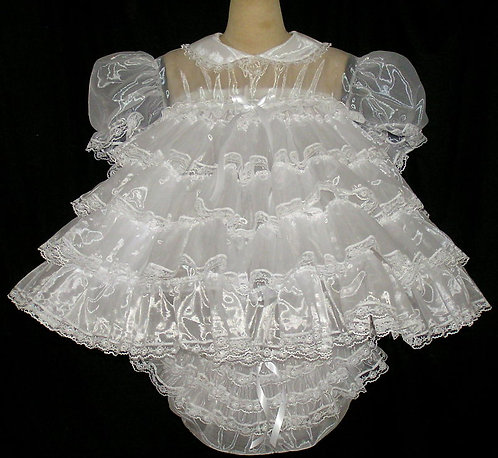 #B22 ADULT SISSY RUFFLE BABY DRESS