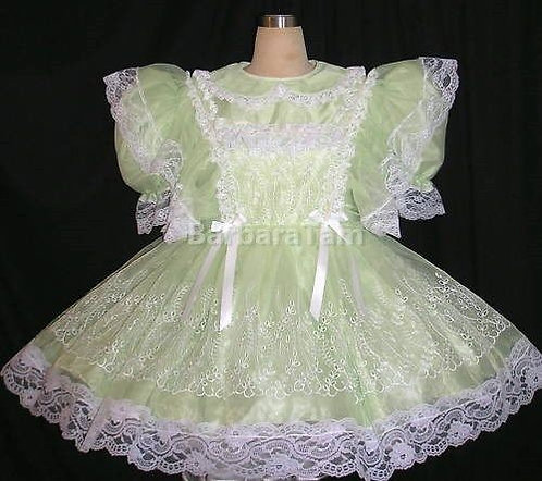 #A02 ADULT SISSY EMBRIODERY  GIRL DRESS
