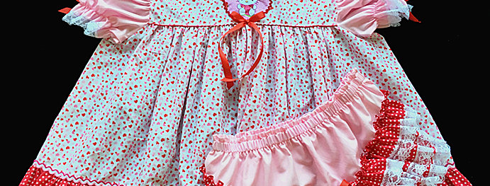Adult Sissy Baby Hello Kitty Dress Set