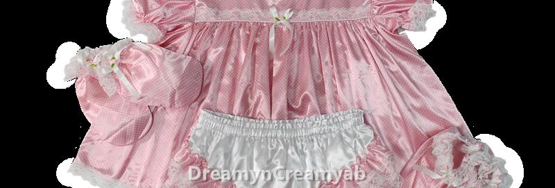 Adult Baby Dots Heavy Satin Dress Full Set