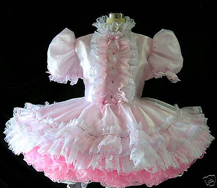 #B50 Adult Sissy French Girl Dress