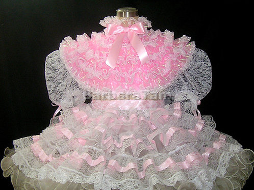 #D13 ADULT SISSY LACY PRISSY RUFFLES DRESS