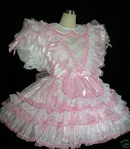 #C31  ADULT SISSY RUFFLES MAIDS DRESS