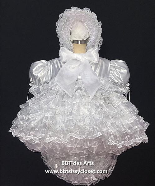 BBT ADULT SISSY PRISSY SLIVER DOLL BABY RUFFLES DRESS