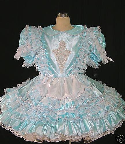 #B34 ADULT SISSY TAFFETA MAID DRESS