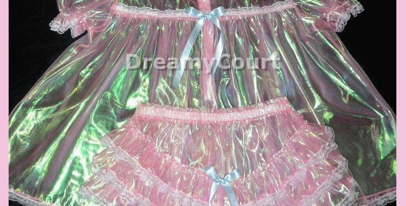 Adult Sissy Mirror Organza Baby Dress