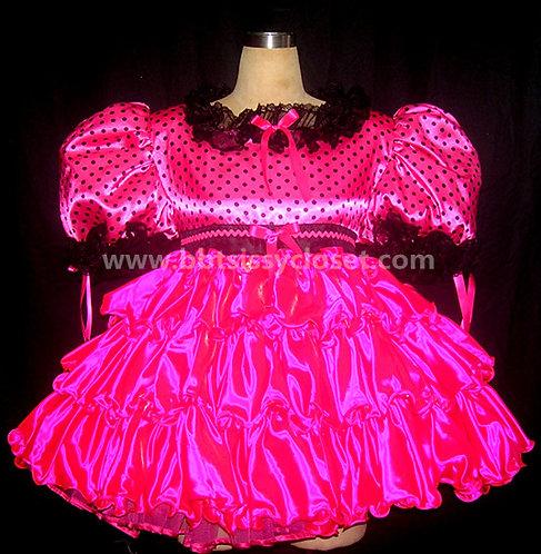 STK 12 Adult Sissy Polkadots Prissy Dress
