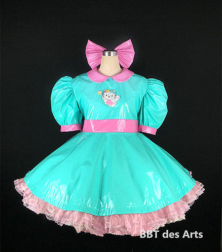 BBT ADULT SISSY POWER HELLO KITTY PVC DRESS