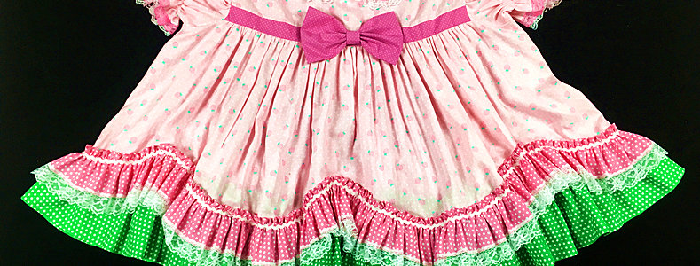 Adult Sissy Strawberry Dress Set