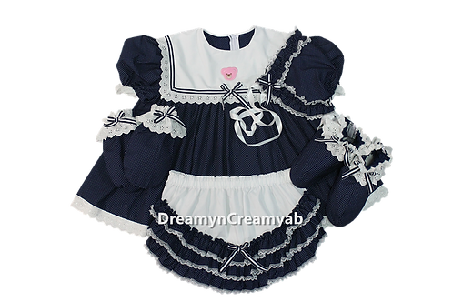 Adult Baby Bear Sailor Dress Full Set
