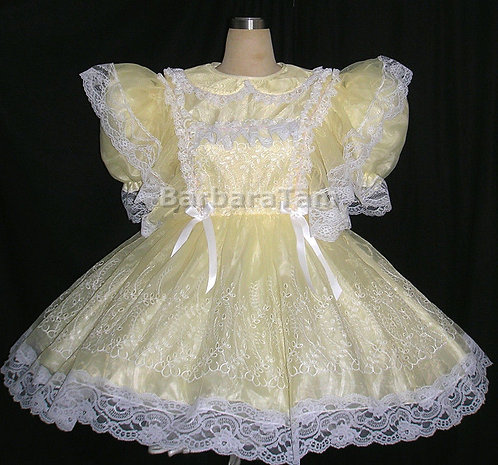 #A01 ADULT SISSY EMBORIDERY GIRL TEA DRESS