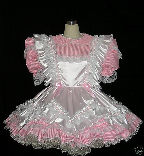 # B30 ADULT SISSY CANDY PINAFORE DRESS