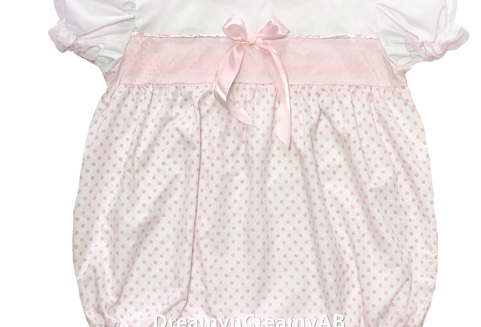 ADULT SISSY Victorian Dots Baby Romper