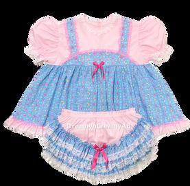 Blue Bib Dress