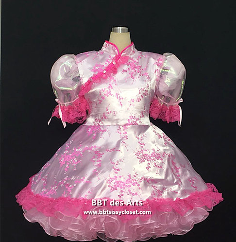 BBT Adult Sissy Oriental Doll Party Dress 01