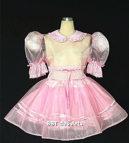BBT ADULT SISSY BABY BRIDAL ORGANZA LACY GIRL DRESS