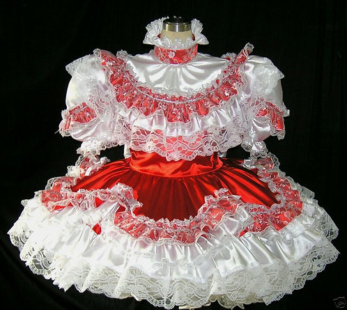 #B16 ADULT SISSY FRENCH GIRL DRESS