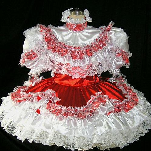 #B16 ADULT SISSY FRENCH GIRL DRESS