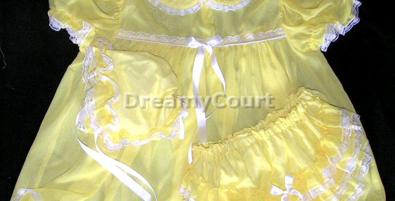 Adult Sissy Chiffon Dress 3pcsSet