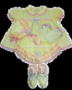 baby yellow eyelet Dress Set