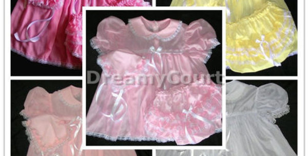 3 SETS / PACK ~ ADULT BABY CHIFFON BONNET SETS DRESS