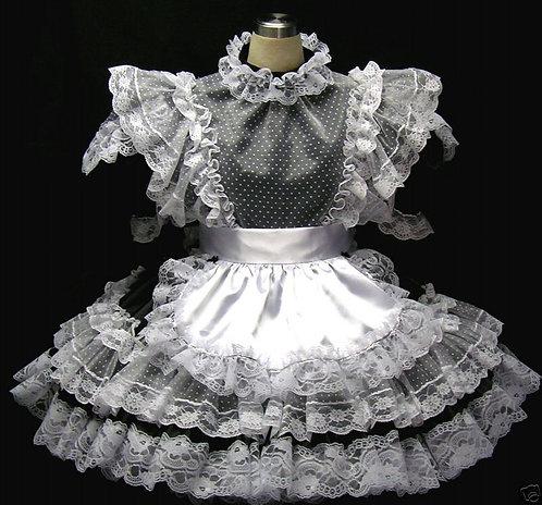 #B19 ADULT SISSY FRENCH MAIDS DRESS