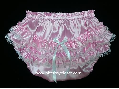 BBT Adult Sissy Ruffles Satin Panties PT12