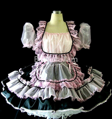 #B29 ADULT SISSY GOTHIC MAIDS DRESS