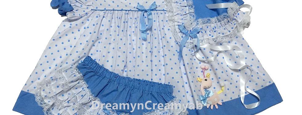 ADULT BABY POLKADOTS  DRESS SET