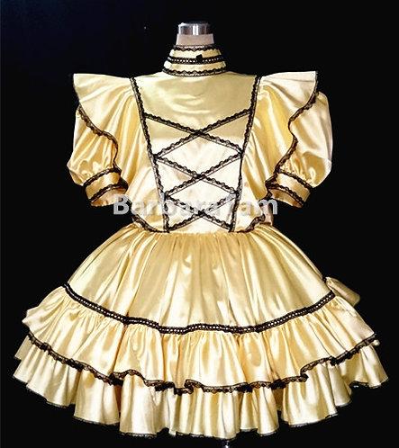 #A08 Adult Sissy Flouncy Gothic Dress
