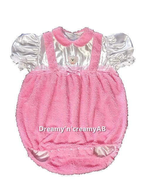 Adult Sissy Baby Little Bear Curly Fleece Romper